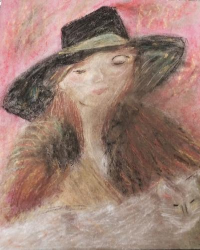 Woman With Hat and Fur